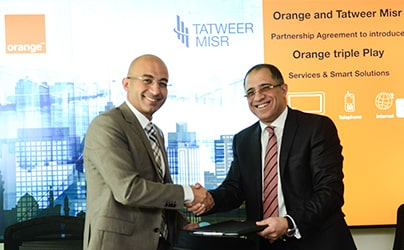 Tatweer Misr Signs Partnership Agreement with Orange Egypt to provide  TRIPLE PLAY services for its projects, starting with Fouka Bay - Ras El Hekma