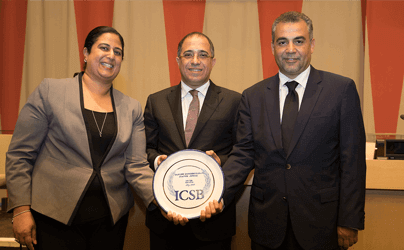 Tatweer Misr receives a Humane Entrepreneurship Award At The Annual International Council for Small Business MSME Forum at the United Nations